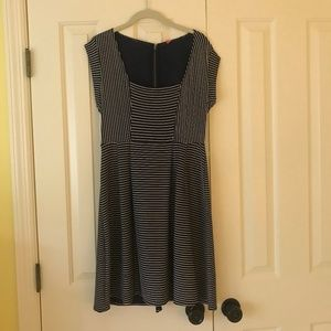 Navy and white striped sundress